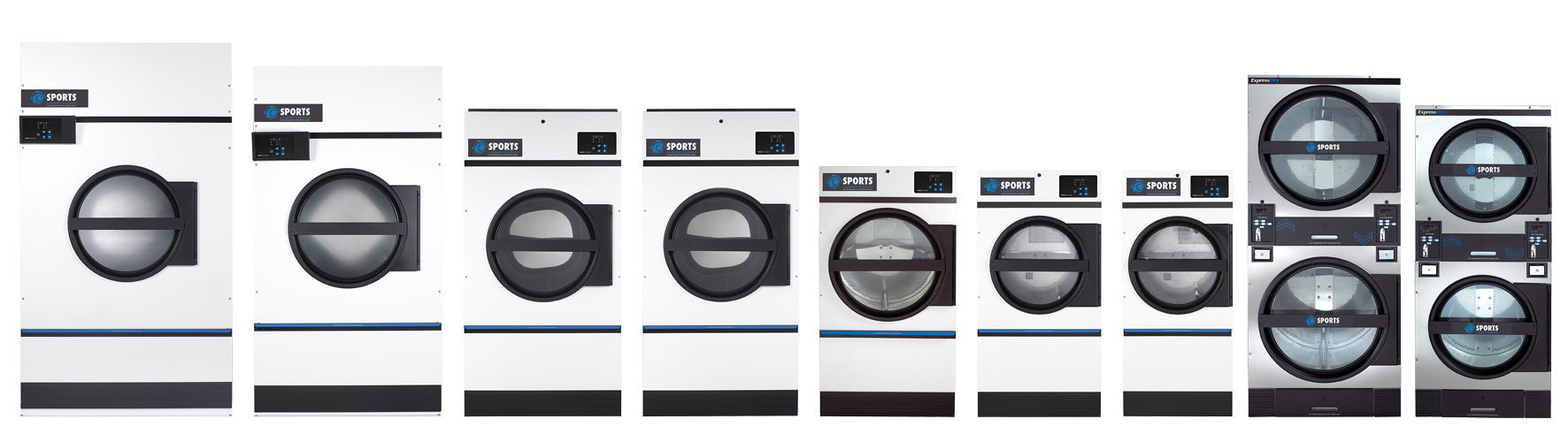 Sports Laundry Systems Drying Tumbler line-up